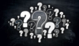 Question mark cloud Concept visualization royalty free stock images