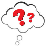 Question mark in a cloud Royalty Free Stock Image