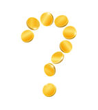 Question mark from coins Royalty Free Stock Images
