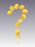 Question mark from coins Stock Photo
