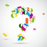 Question Mark with Colorful Alphabet Stock Photos