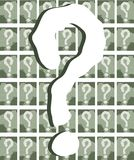 Question mark on colorful background Royalty Free Stock Photos