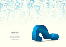 Question mark. Colorful question mark with the possibility to insert your own text Royalty Free Stock Images