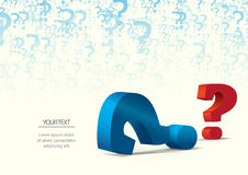 Question mark. Colorful question mark with the possibility to insert your own text Stock Photo