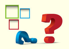 Question mark. Colorful question mark with the possibility to insert your own text Stock Images