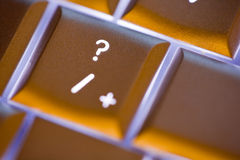 Question Mark on Computer Keyboard Royalty Free Stock Photography