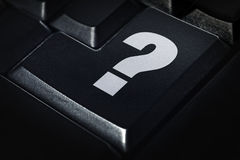 Question mark on computer keyboard Stock Photo