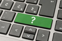 Question mark on computer keyboard Royalty Free Stock Images