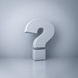 Question mark concept on white wall background Stock Images