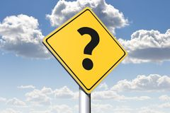 QUESTION MARK - conceptual roadsign... Stock Photos