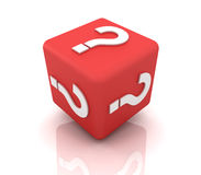 Question mark cube Royalty Free Stock Images