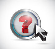 Question mark and cursor illustration design Stock Photography