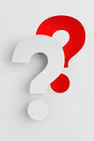 Question Mark cut from paper Royalty Free Stock Photography