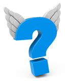 The question mark. 3d generated picture of a blue question mark Royalty Free Stock Photography