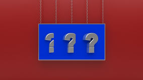 Question mark 3D render Stock Image