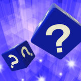 Question Mark Dice Background Showing Confusion Royalty Free Stock Photos