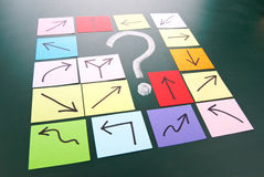 Question mark with different direction Royalty Free Stock Photo
