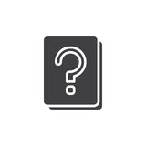 Question mark documents icon vector, filled flat sign, solid pictogram isolated on white. Stock Photography