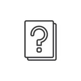 Question mark documents line icon, outline vector sign, linear style pictogram isolated on white. Royalty Free Stock Image