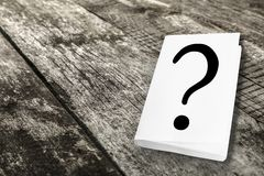 Question. Mark doubt q wood ideas problem Royalty Free Stock Image