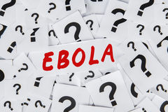 Question mark and an Ebola word Royalty Free Stock Photo