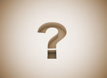Question mark engraved Stock Photography