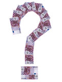 Question-mark euro Stock Photography
