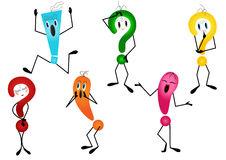 Question mark and exclamation mark Royalty Free Stock Photography