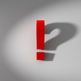 Question mark, exclamation mark Royalty Free Stock Photography