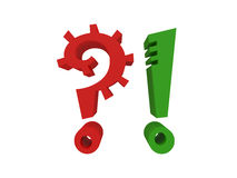 Question mark and exclamation mark Stock Images