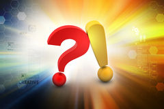 Question mark with exclamation mark Royalty Free Stock Photography