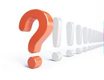 Question mark and exclamation mark. On a white background Stock Photos
