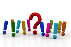 Question mark  and exclamation mark Stock Photography