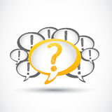 Question mark and exclamation marks Royalty Free Stock Photography