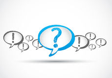 Question mark with exclamation marks Stock Image