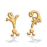 Question mark  and  exclamation point Royalty Free Stock Photos