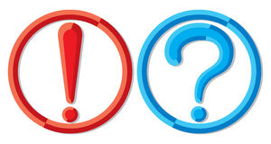 Question mark. Exclamation point and a question mark Stock Photo