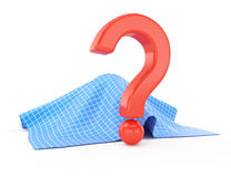 Question mark and fabric cover Stock Image