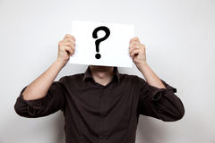 Question mark face Royalty Free Stock Images