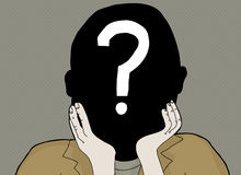 Question Mark in Face Royalty Free Stock Photos