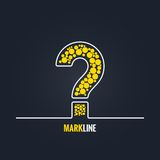 Question mark FAQ help background Royalty Free Stock Photo