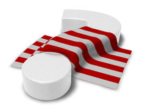 Question mark and flag of bremen. 3d illustration Stock Photos