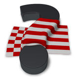 Question mark and flag of bremen. 3d illustration Royalty Free Stock Image