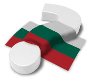 Question mark and flag of bulgaria Royalty Free Stock Photography