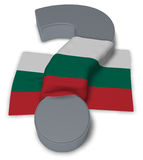 Question mark and flag of bulgaria Stock Image