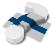 Question mark and flag of finland. 3d illustration Stock Image