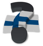 Question mark and flag of finland. 3d illustration Royalty Free Stock Images
