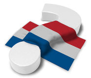 Question mark and flag of the netherlands Royalty Free Stock Photos