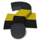 Question mark and flag of saxony-anhalt. 3d illustration Royalty Free Stock Photography