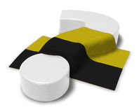 Question mark and flag of saxony-anhalt. 3d illustration Stock Photography